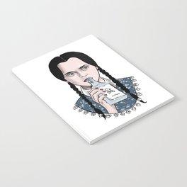 Stay creepy - Wednesday Addams illustration Notebook
