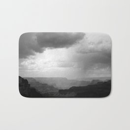 Grand Canyon Landscape with Clouds Black and White Bath Mat