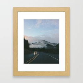 Evening Drives in the Columbia River Gorge Framed Art Print