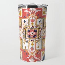 Rugs-Navy Travel Mug
