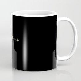 Funny Bball Basketball Heartbeat Gift Coffee Mug
