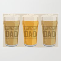 dad Area & Throw Rugs featuring DAD by Kiley Victoria
