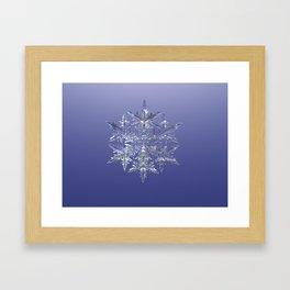 Fractal Snowflake Framed Art Print