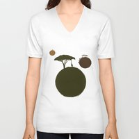 africa V-neck T-shirts featuring AFRICA by J ō v