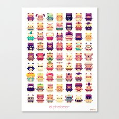 Alphabear Canvas Print