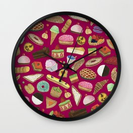 Desserts of NYC Wall Clock