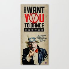 I WANT YOU! V for Vendetta Poster Canvas Print