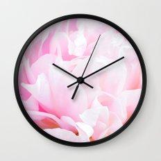 CREAMY PINK FLOWER Wall Clock