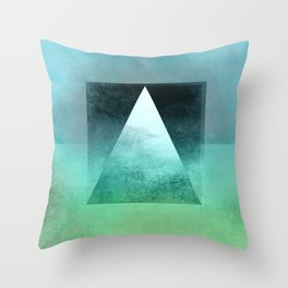 Triangle Composition X Throw Pillow