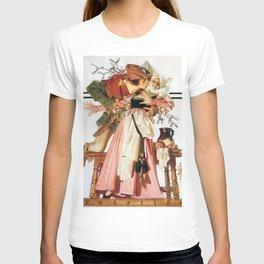 12,000pixel-500dpi - Joseph Christian Leyendecker - Christmas Season-kiss Under Mistletoe T-shirt
