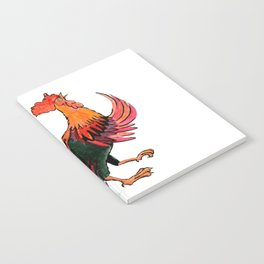 Rooster Crowing Notebook