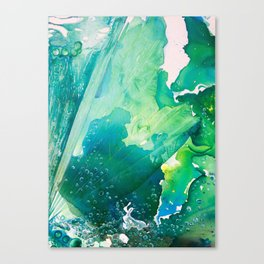 Environmental Importance, Deep Sea Water Bubbles Canvas Print