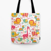 wildlife Tote Bags featuring Wildlife by One April