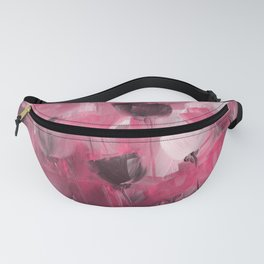 Rose Garden in Shades of Peachy Pink Fanny Pack
