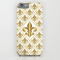 Gold Fleur-de-Lis Pattern Slim Case iPhone 6s