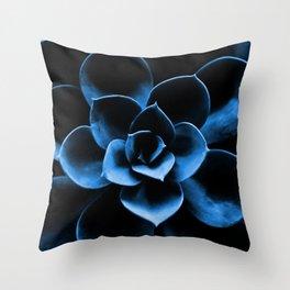 Dark Blue Succulent Plant #decor #society6 #buyart Throw Pillow