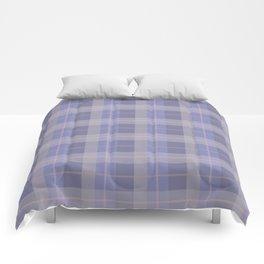 AFE Purple Plaid Pattern Comforters