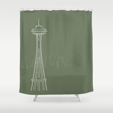 Seattle by Friztin Shower Curtain