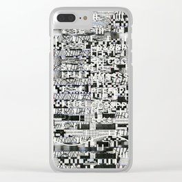 Confused Images Behind the Interface (P/D3 Glitch Collage Studies) Clear iPhone Case