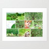 Untitled (Boy & Bird) Art Print