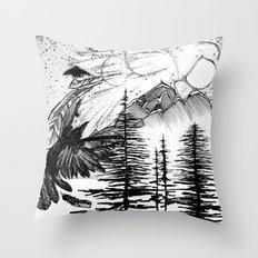 Murder on the Mountain Throw Pillow