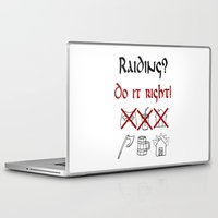 vikings Laptop & iPad Skins featuring Raiding 1, Vikings by ZsaMo Design