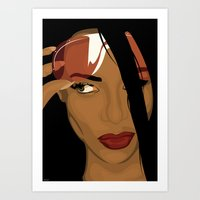 aaliyah Art Prints featuring Aaliyah by Tloweart