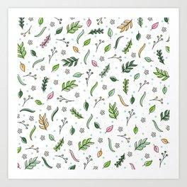 Scattered Floral Art Print