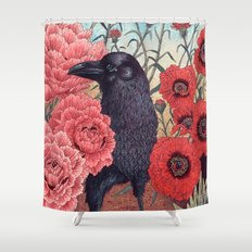 Crow Effigy Shower Curtain