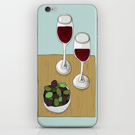 Wine and Olives iPhone Skin