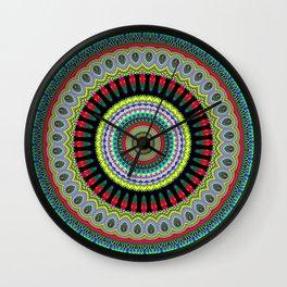 exotic Mandala Wall Clock