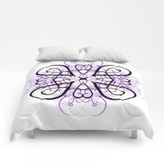PURPLE SACRED GEOMETRY Comforters