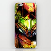 samus iPhone & iPod Skins featuring Samus by Vincent Vernacatola
