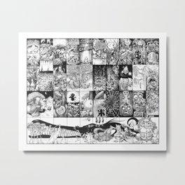 Inktober 2016 Metal Print