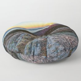 ACADIA NATIONAL PARK MOUNTAIN SUNRISE MAINE OCEAN LANDSCAPE Floor Pillow