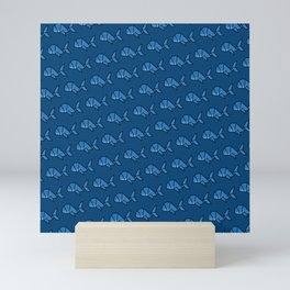 Children's Bedroom Pattern - Whale Origami  Mini Art Print