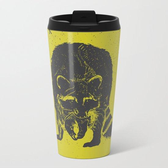 racoon Metal Travel Mug