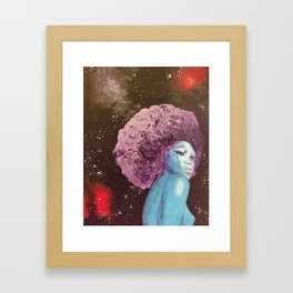 Deep Thinking Princess Framed Art Print