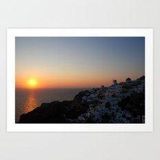 Santorini Sunsets Art Print