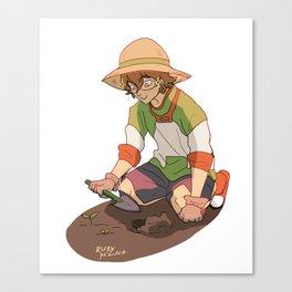Pidge Gardening Canvas Print