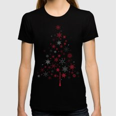 look closer, there's something hidden! Merry Christmas!  Black X-LARGE Womens Fitted Tee