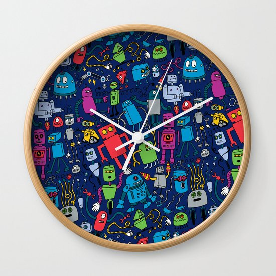 Robots Forever! Wall Clock
