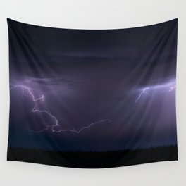 Summer Lightning Storm On The Prairie IV - Nature Landscape Wall Tapestry