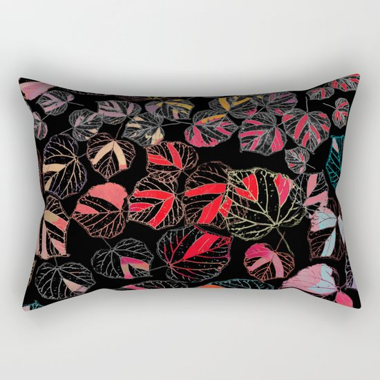 Leaf abstraction(3). Rectangular Pillow