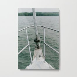Sailing in Michigan Metal Print