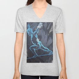 Walking the Straight line Unisex V-Neck