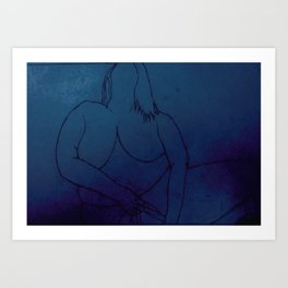In Touch With Myself - Venus Blue Art Print