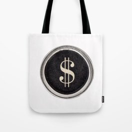 Vintage Dollar Sign Tote Bag