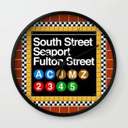 subway south street seaport sign Wall Clock