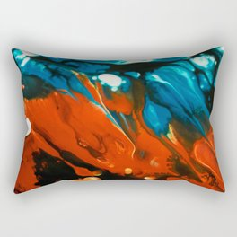 Psychedelic Fluid Art 1 Rectangular Pillow